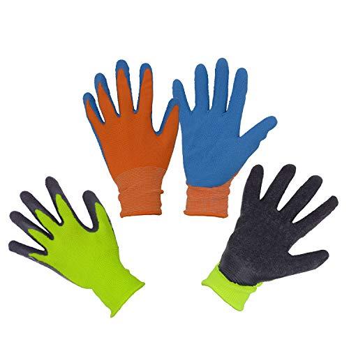2 x Paia di guanti da giardino per bambini da 2 a 13 anni, guanti da giardinaggio e da lavoro...