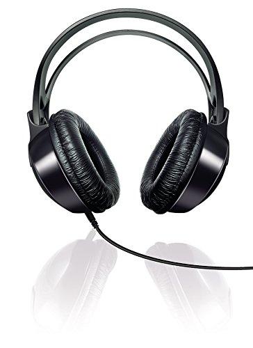 Auriculares HiFi circumaurales Philips SHP1900/10 con cable (diadema ajustable, almohadillas grandes, diseño ligero, cable de 2 m), color negro