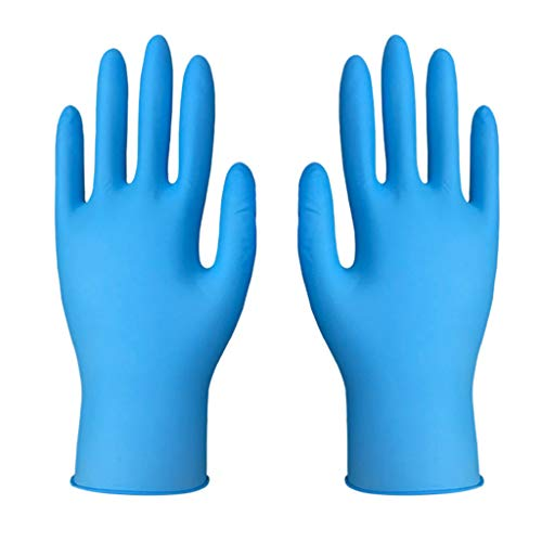 Disposable Nitrile Gloves, Exam Gloves, Medical Grade Powder Free Latex Free Disposable Multipurpose Food Safe for Hospitals, Law Enforcement (Pack of 100) (S)