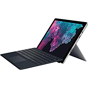 """Microsoft 2019 Surface Pro 6 12.3"""" (2736x1824) PixelSense 267 PPI 10-Point Touch Display Tablet PC W/Surface Type Cover, Intel Quad Core 8th Gen i5-8250U, 8GB RAM, 128GB SSD, Windows 10, Platinum"""