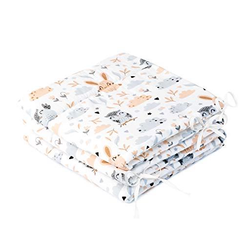 Amilian Tour de lit pour bébé et enfant - Doux - Protection des bords - Tour de lit - Accessoire pour parc - Tour de lit - 180 lumières
