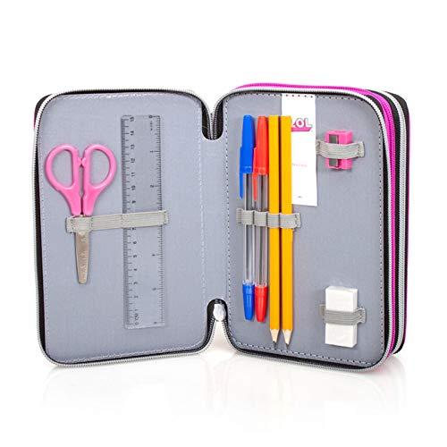 Image 5 - Lol Surprise 92424 Trousse triple rembourrée, 44 accessoires scolaires, 20 cm