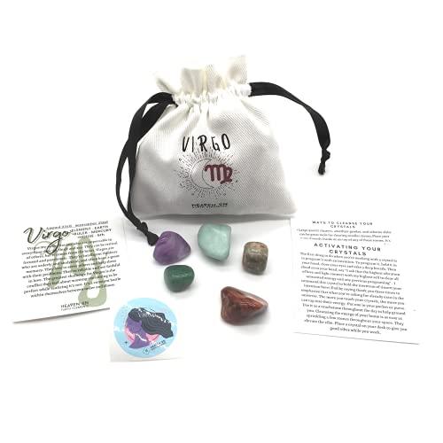 Virgo Zodiac Sign Crystal Set -Healing Crystals - Astrology...