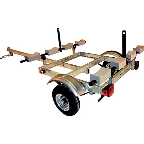 6. Malone XtraLight 4 Kayak Stacker Trailer Package