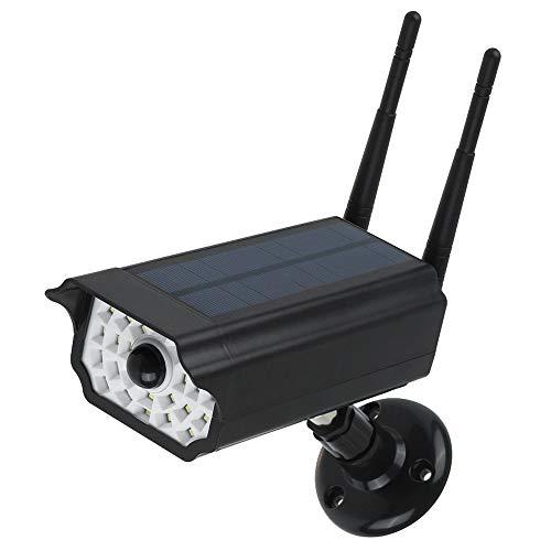 Lixada Luce Solare da Telecamera Finta Sorveglianza con Sensore di Movimento Luci da Giardino Esterne ad Energia Solare Luce di Sicurezza con Sensore di Movimento RIR IP65 Impermeabile