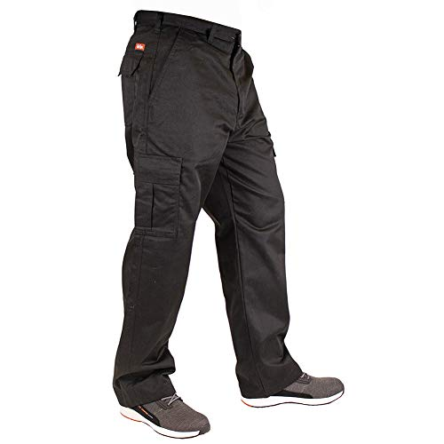 Lee Cooper Herren Cargo Trouser Hose, Black, 32W/31L (Regular)