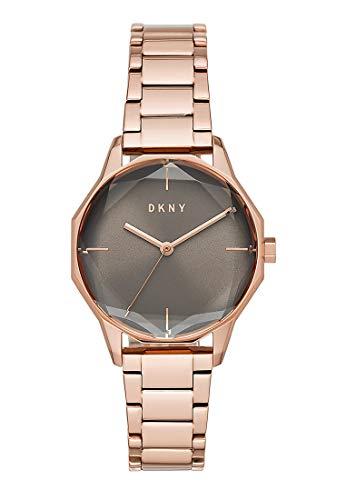 DKNY Damen-Uhren Analog Quarz One Size Rosé Edelstahl 32002240