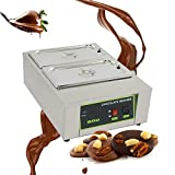 Tempereuse a Chocolat Fondoir à chocolat électrique en Acier Inoxydable...