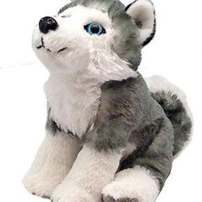 Wild Republic- CK Mini Husky Siberiano de Peluche, 20 cm (13435)