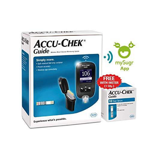 Accu-Chek Guide Glucometer (Bluetooth) (Black)