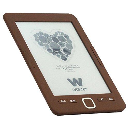 Woxter E-Book Scriba 195 Chocolate- Lector de Libros electrónicos 6'...