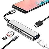 Adaptador USB C a HDMI para Samsung DeX, experiencia de escritorio para Galaxy S20 / S20Ultra / Note10 / Note9 / TabS7 / S7 + / S6 / S5 / S5e, estación DeX con HDMI 4K, USB3.0, carga tipo C, Lector de tarjetas SD / Micro SD