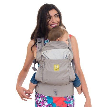 LÍLLÉbaby 4-in-1 Essentials All Seasons Ergonomic Baby & Child Carrier, Stone - Cotton