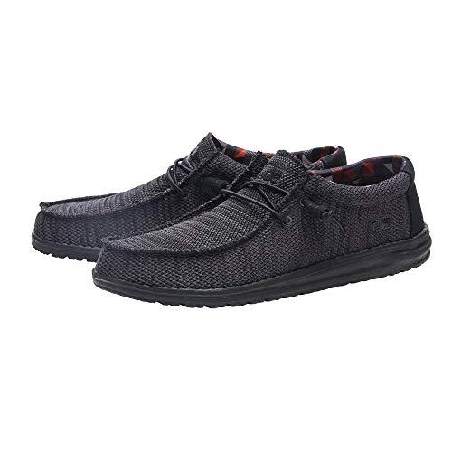 Hey Dude Men's Wally Sox Jet Black, Size