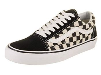 Vans Men's Old Skool Sneaker, Primary Check Black White, 7 UK