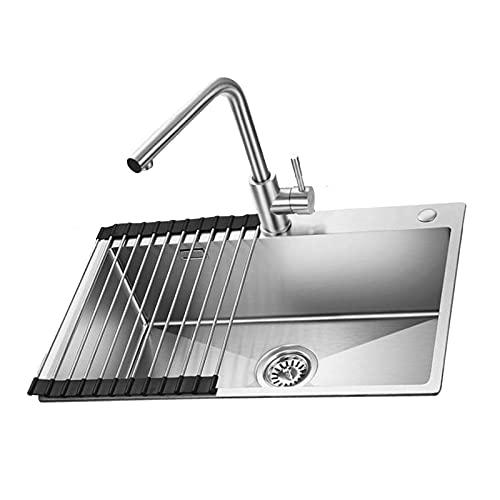 Sink,Stainless Steel Single Bowl Manual Tank Kitchen...