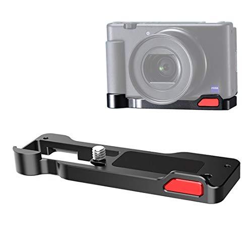 ソニーZV-1対応拡張アクセサリー メタル製ブラケット 1/4ネジ穴あり バッテリーの取り出し便利 コールドシューズマウント付き
