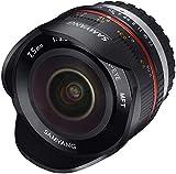 Samyang Obiettivo 7,5mm F/3,5 UMC Fish-Eye MFT per Micro Quattroterzi, Nero