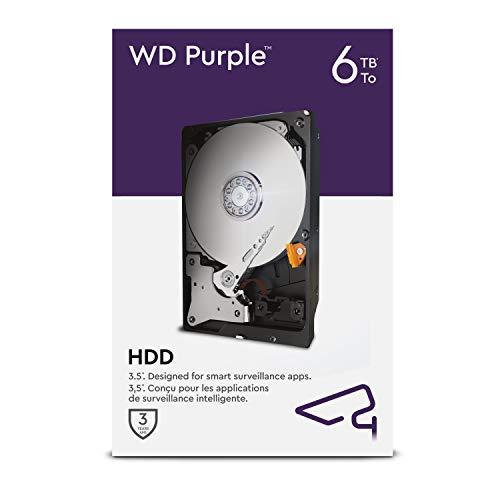 WD Purple - Disco rigido interno 6 TB Videosorveglianza 3.5', Allframe 4K - 180 TB/anno, cache 64 MB, Classe 5.400 RPM