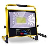200W Projecteur LED Rechargeable, bapro Projecteur hantier, IP65 étanche Lampe de Travail 7500K Lanterne...