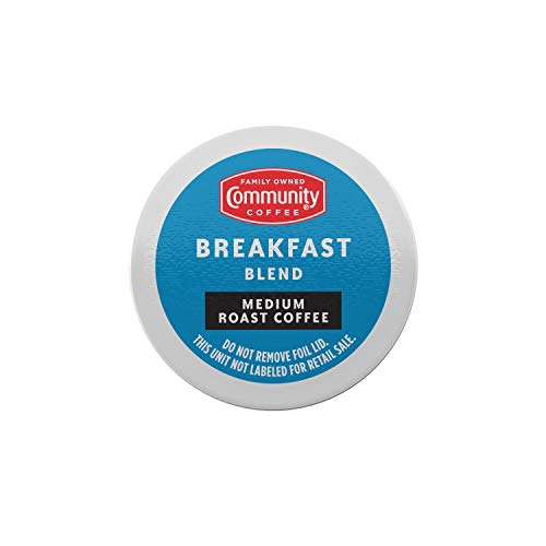Community Coffee Breakfast Blend 54, Medium Roast, Compatible with Keurig 2.0 K-Cup Brewers, 1 Box of 54 Pods