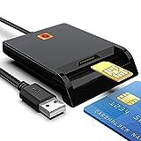 Lecteur de carte à puce, carte CAC à accès commun USB militaire 2 en 1...