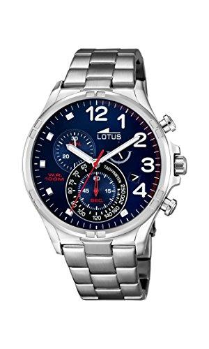 Lotus Reloj Cronógrafo para Hombre de Cuarzo con Correa en Acero Inoxidable 10126/3