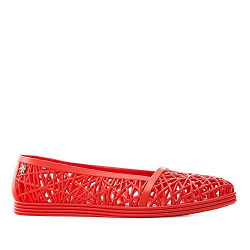 Sandali da spiaggia unisex per donna, uomo e bambino - sandali in plastica - CAPRI - Rosso, EU 39