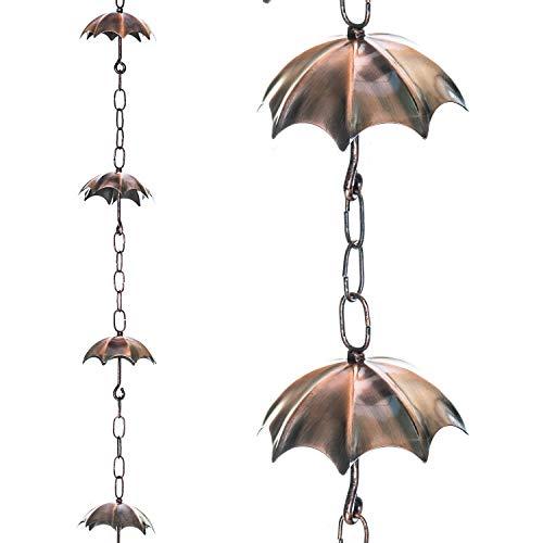 Topadorn Regenschirm, Regenketten, 182,9 cm, Metall