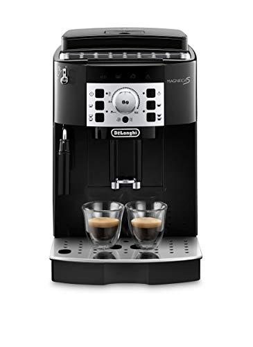 De'Longhi Magnifica S ECAM 22.110.B – Kaffeevollautomat mit Milchaufschäumdüse, Direktwahltasten & Drehregler, 2-Tassen-Funktion, großer 1,8 l Wassertank, 35,1 x 23,8 x 43 cm, schwarz-silber