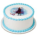 Frozen 2 Elsa, Anna and Olaf Edible Image Cake Topper Decoration