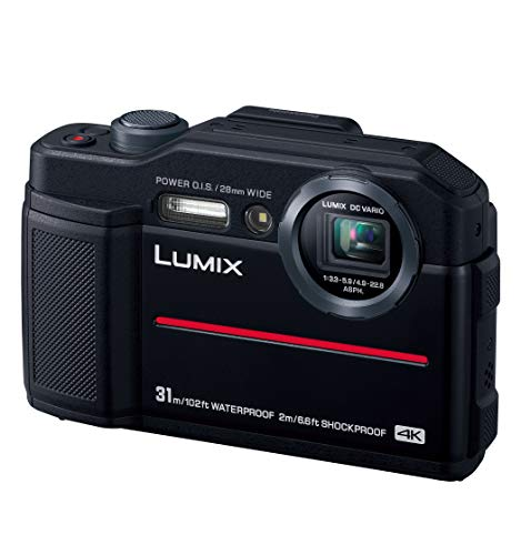 パナソニック コンパクトデジタルカメラ ルミックス FT7 防水 4K動画対応 ブラック DC-FT7-K