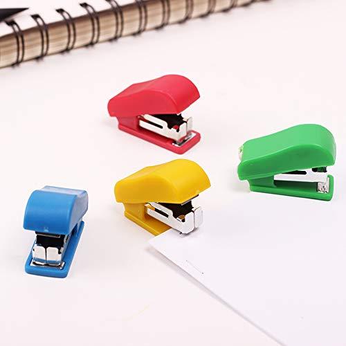 YAOHM 10 PC Mini cucitrice con graffette di plastica stabilita pinzatrice Carta Mini Binder Ufficio...