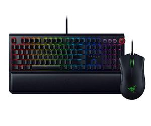 Razer BlackWidow Elite Mechanical Gaming Keyboard (Green Mechanical Switches) + DeathAdder Elite Gaming Mouse Bundle