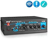 Home Audio Power Amplifier System - 2X120W Mini Dual Channel Mixer Sound Stereo Receiver Box w/ RCA, AUX, Mic Input - For Amplified Speakers, PA, CD Player, Theater, Studio Use - Pyle PTA4