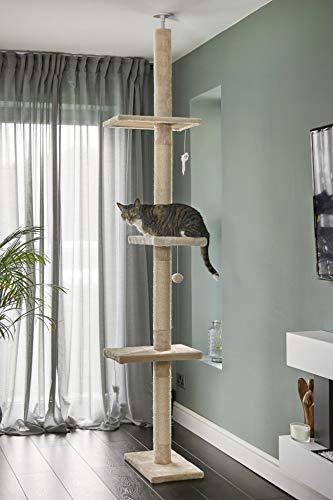 RuneSol Kratzbaum für Katzen Deckenhoch, Kletterbaum mit Reichweite vom Boden...