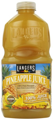 Langer Juice Company Pineapple Juice with Vitamin C, 64 oz