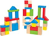 Maple Wood Kids Building Blocks by Hape   Stacking Wooden Block Educational Toy Set for Toddlers, 50...