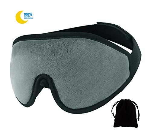 Wengerui 3D Masque de Sommeil, Masque de Nuit, 100% Anti-lumière...