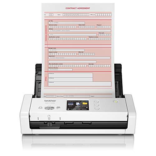 Brother ADS-1700W | Draadloos en compact design | Automatische documentinvoer | Ruimte voor 20 vel | Scant maximaal 25 pagina's per minuut