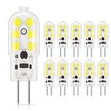 DiCUNO 10-Pack G4 LED 1.5W Ampoule, 180LM, AC/DC 12V Ampoules d'éclairage...