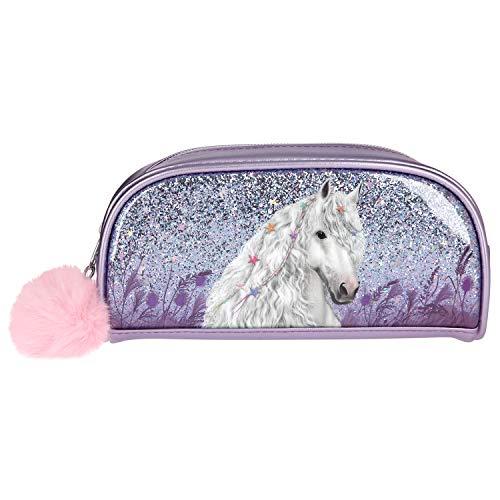 Depesche- Astuccio con Glitter Miss Melody, Colore Viola, Circa 20 x 7 x 10 cm Lilla, 10774
