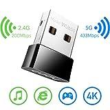 Cudy WU650 650Mbps Clé WiFi, Cle WiFi USB sans Fil 433Mbps + 200Mbps pour PC...