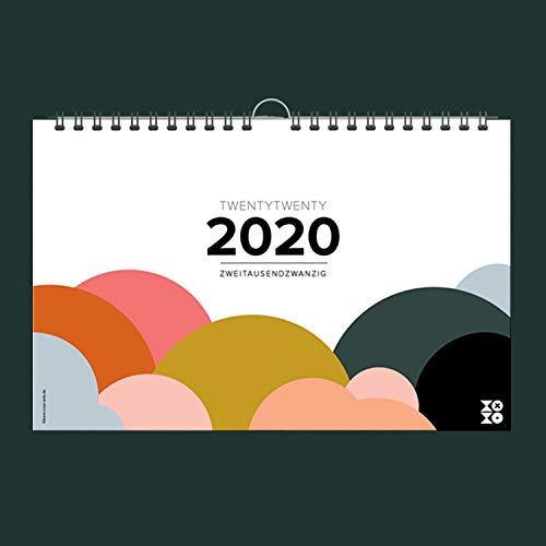 Mehrseitiger Design Wandkalender A4 quer (2020): Praktischer und fröhlicher Kalender für ein trendiges Interior!