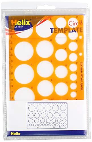 Spiralkreis-Schablone H67010 Kreisschablone Orange (Translucent Orange)