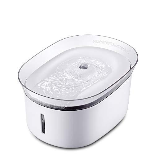 HoneyGuaridan W18ペットファウンテン自動ペット給水噴水、犬、猫給水機、2L(70オンス)