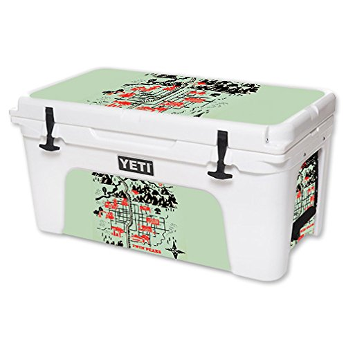 MightySkins (Cooler Not Included) Skin Compatible with YETI 65 qt Cooler - Twin Peaks Map | Protective, Durable, and Unique Vinyl Decal wrap Cover | Easy to Apply | Made in The USA