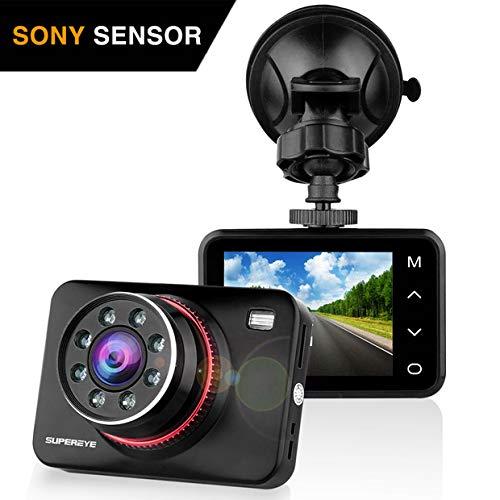 SuperEye Dash Cam Telecamera per Auto Dash Cam per Auto Camera Car 1080P con Infrarossi Visione Notturna , 170 Gradi , Rilevazione di Movimento, Registrazione in Loop, WDR,G-Sensor e 2,7' Schermo LCD