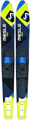 MESLE Combo-Ski XPlore 157 cm mit B2 Bindung, Wasserski für Jugendliche und Erwachsene, mit Monoschlaufe, blau-Lime