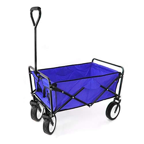 RAMROXX 34161 Garten Transport Faltwagen Handwagen Bollerwagen klappbar bis 80kg blau